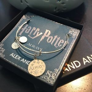 Alex and Ani Harry Potter ALWAYS bracelet silver
